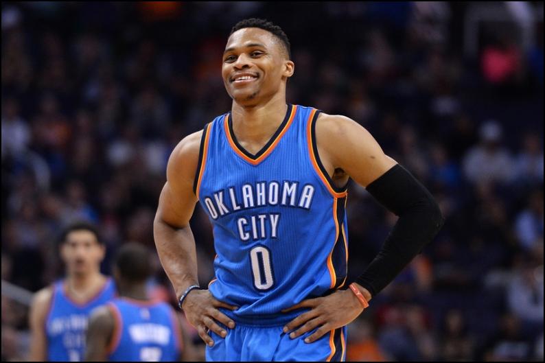 NBA Daily Fantasy Basketball Lineup Picks - Russell Westbrook - Oklahoma City Thunder - Lineuplab -