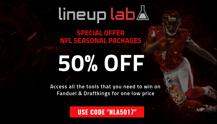 "Get our NFL Seasonal package for 50% off for a LIMITED TIME using code ""NLA5017"""